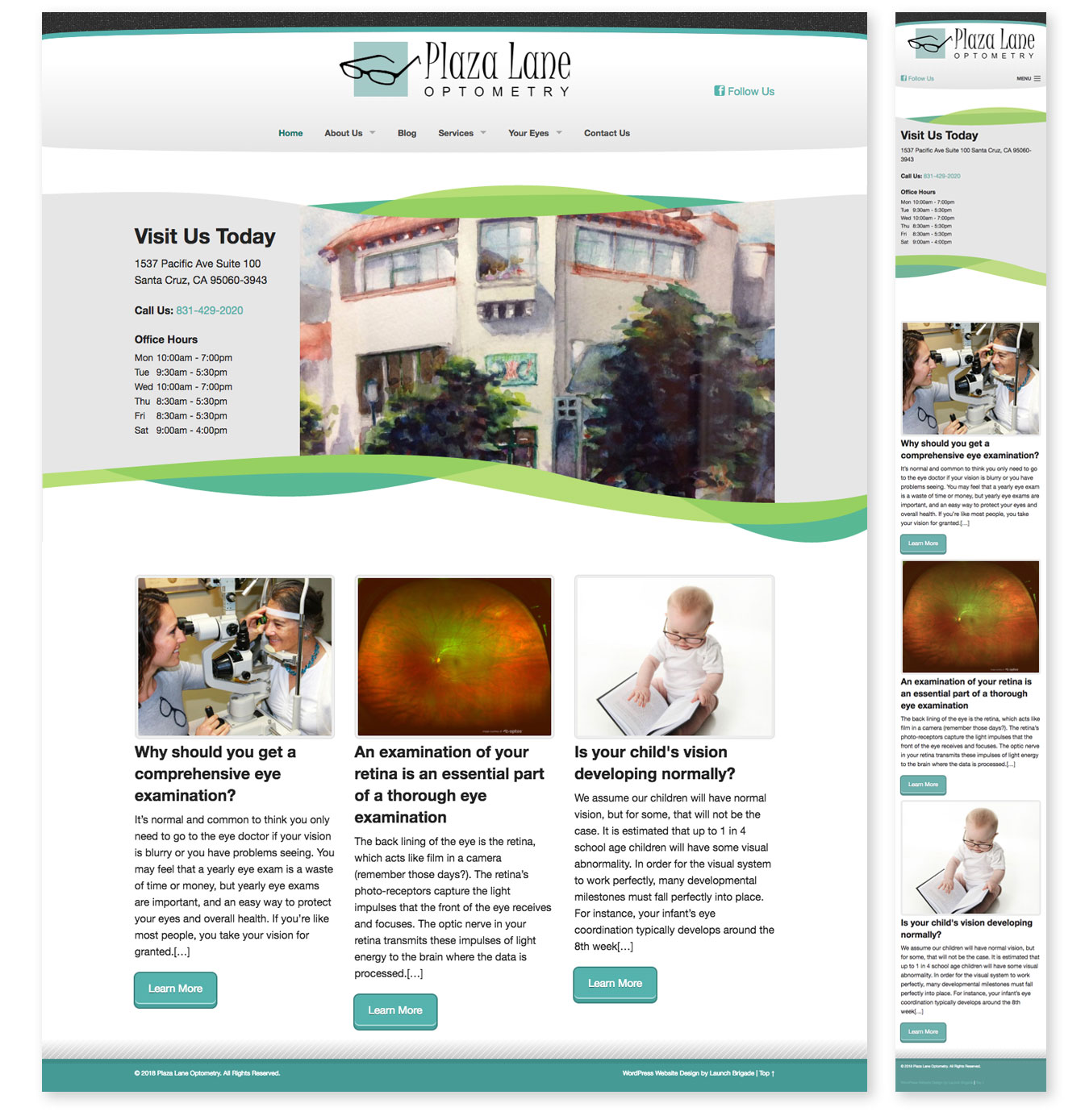 Large site image for Plaza Lane Optometry