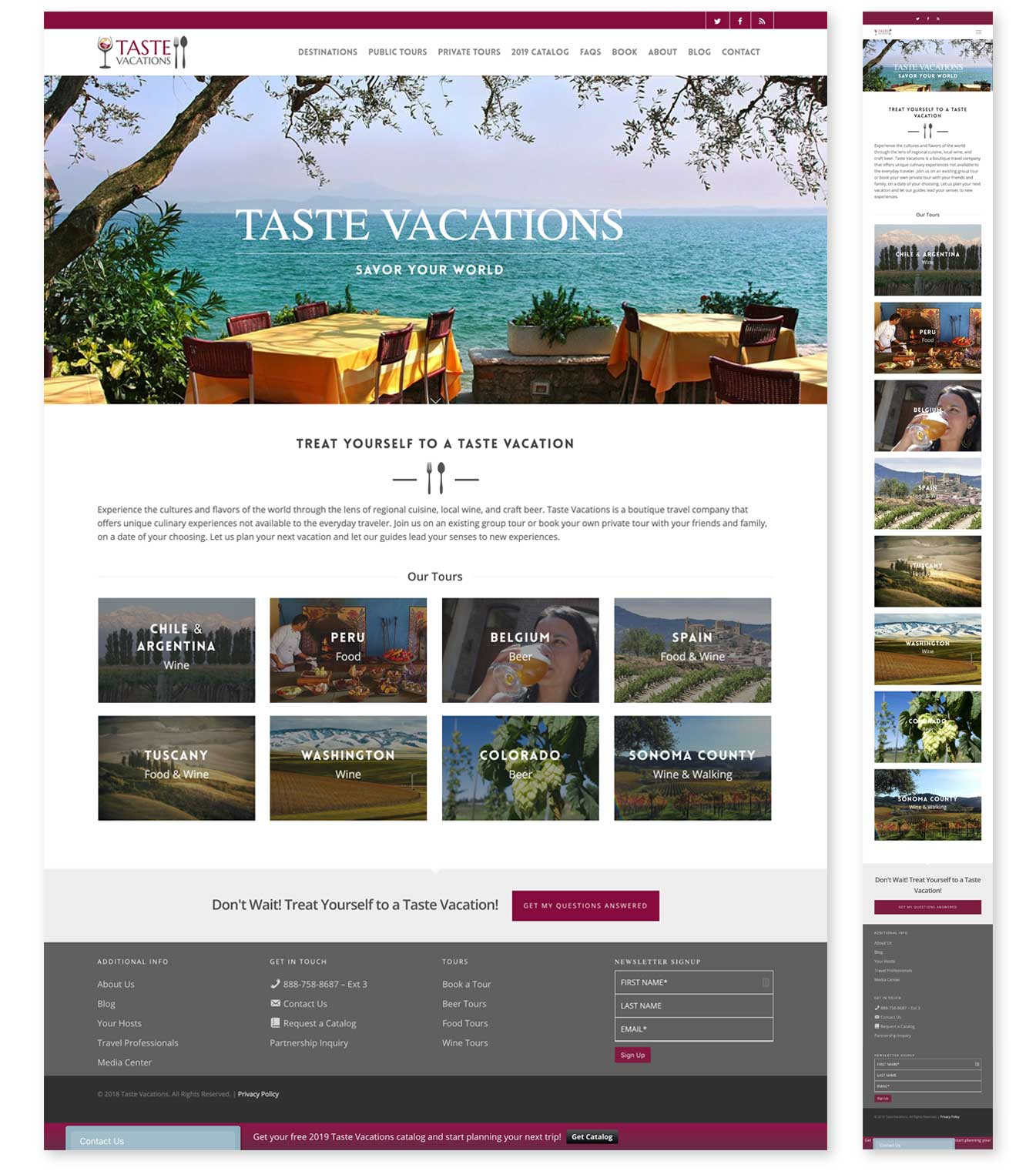 Large site image for Taste Vacations